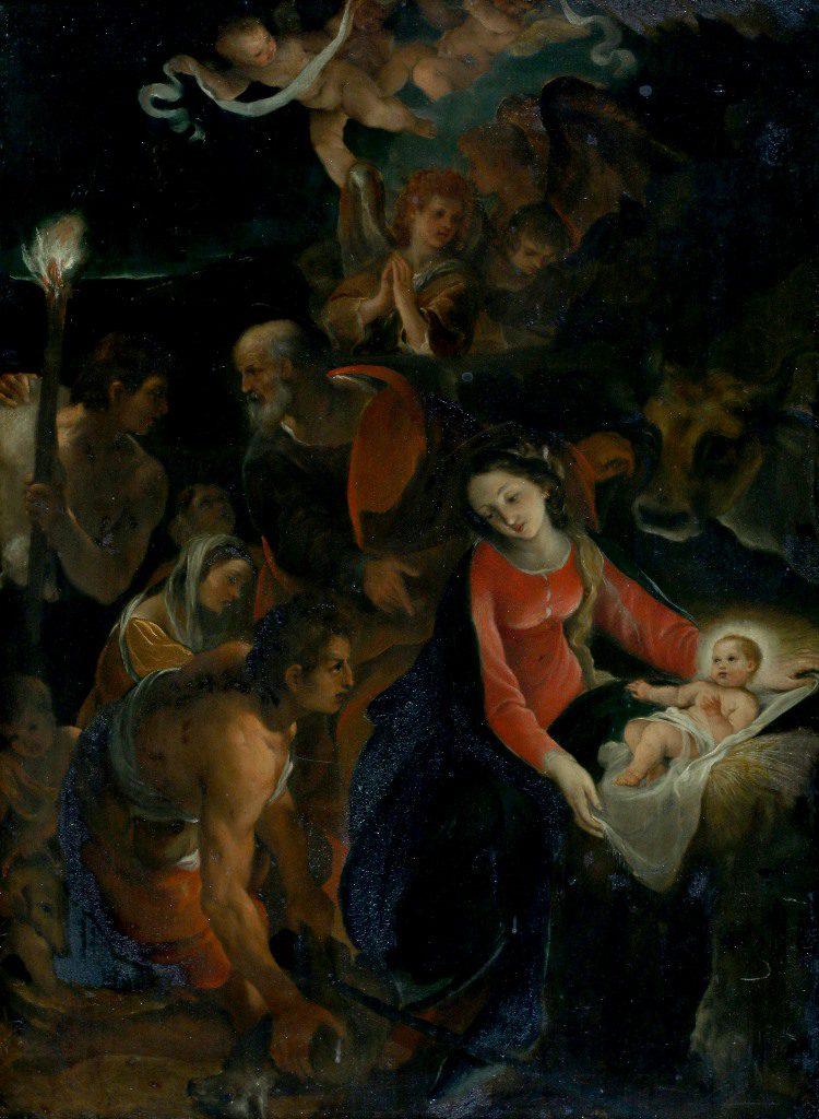 Afbeelding van Hamerprijs €440.000,- voor het bijbels tafereel 'De aanbidding der herders'!